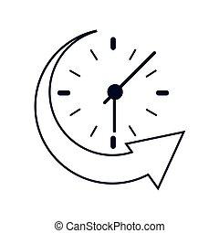 clock and arrow icon