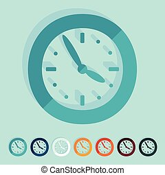 Flat design: clock