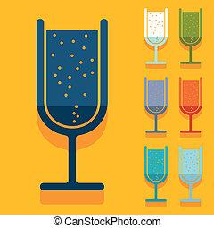 Flat design: cocktail