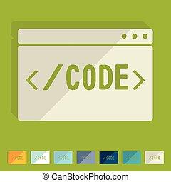 Flat design. coding