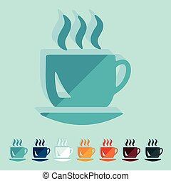 Flat design: coffee