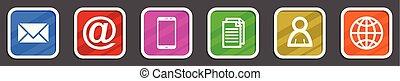 Flat design colorful internet vector icon set