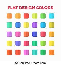 flat design colors set