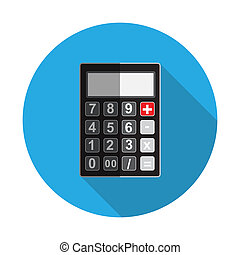 Flat Design Concept Calculator Illustration With Long Shadow