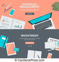 Flat design concept for finance