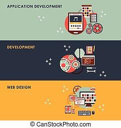 flat design concept illustration for web development