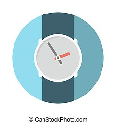 Flat Design Concept Wristwatch Vector Illustration With Long...