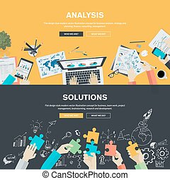 Flat design concepts for business