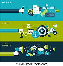 Flat design concepts for business - Set of flat design...