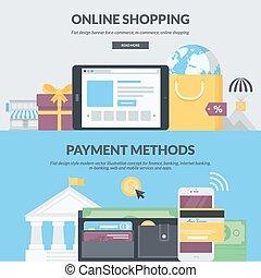 Flat design concepts for e-commerce