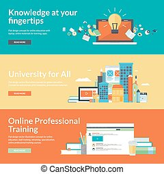 Flat design concepts for education