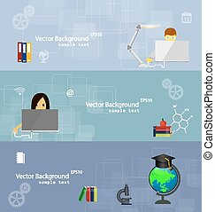 Flat design concepts of education.