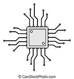 cpu circuit board icon