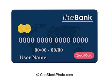credit or debit card icon - flat design credit or debit card...
