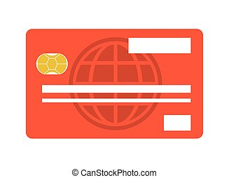 credit or debit card icon - flat design credit or debit card...