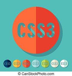 Flat design. CSS3
