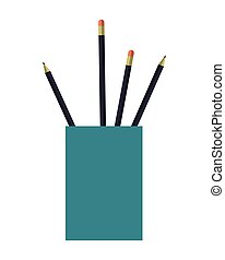cup with pencils icon