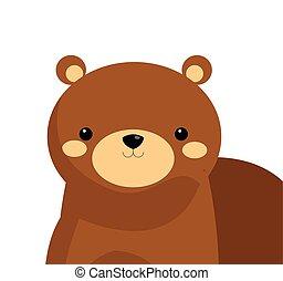 cute bear cartoon icon
