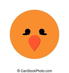 cute bird cartoon icon