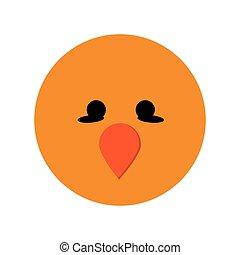 cute bird cartoon icon