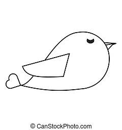 cute cartoon bird icon