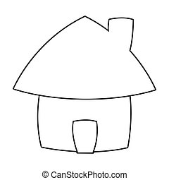 cute cartoon house icon