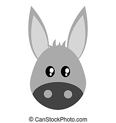 cute donkey cartoon icon