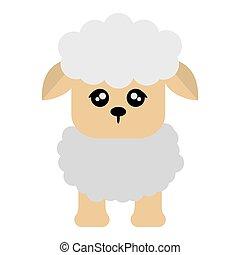 cute sheep cartoon icon