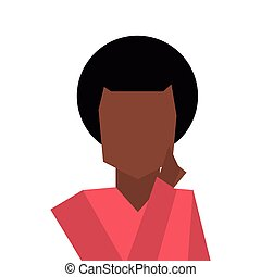 dark skin faceless man icon - flat design dark skin faceless...