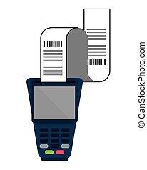 dataphone with receipt icon