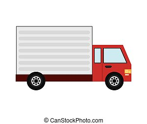 delivery cargo truck icon