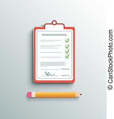 Flat design delivery signature clipboard