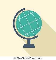 Flat Design Desktop Globe.