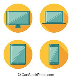 Flat Design Device Icons