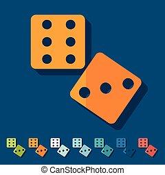 Flat design: dice