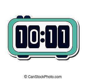 Digital alarm clock icon - flat design Digital alarm clock...