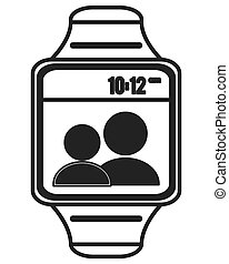 digital watch icon