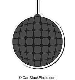 disco ball icon - flat design disco ball icon vector...