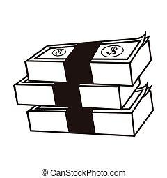 dollar bills icon - flat design dollar bills icon vector ...