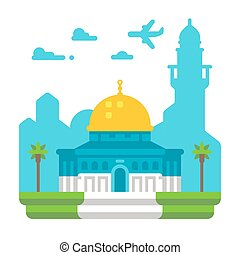 Flat design Dome of Rock