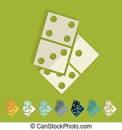 Flat design: domino