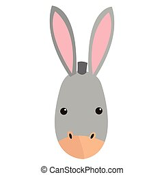 donkey cartoon icon