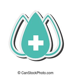 drop with medical cross icon