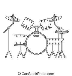 drums set icon