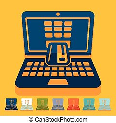 Flat design. e-commerce