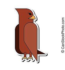 eagle cartoon icon