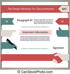Flat Design Elements For Documentation Set1. In the EPS...