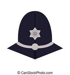 english police custodian helmet icon
