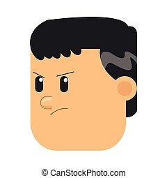 face of angry man icon