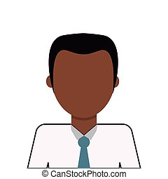 faceless dark skin man icon - flat design faceless dark skin...